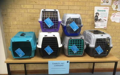 Pet carriers only £5!