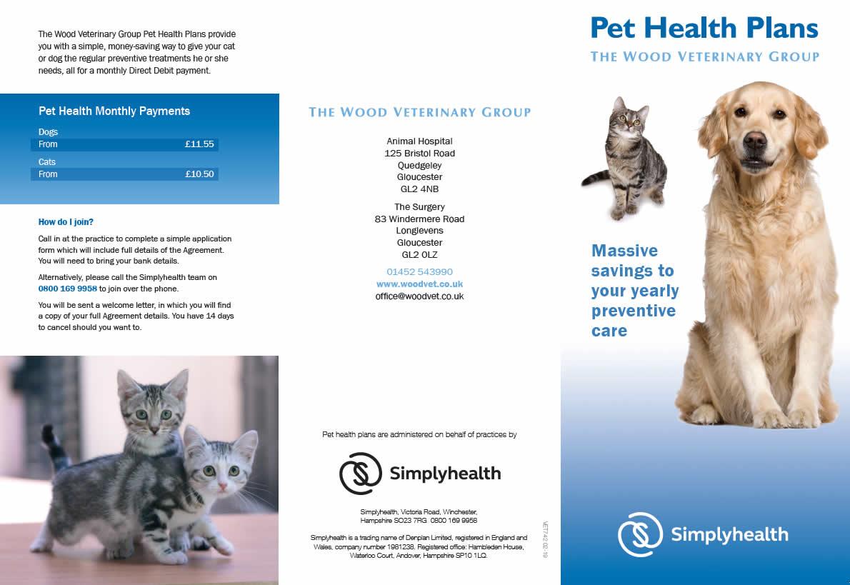 Pet health Plan Wood Vets